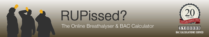 R U Pissed? - Online Breathalyzer And Blood Alcohol Content Calculator